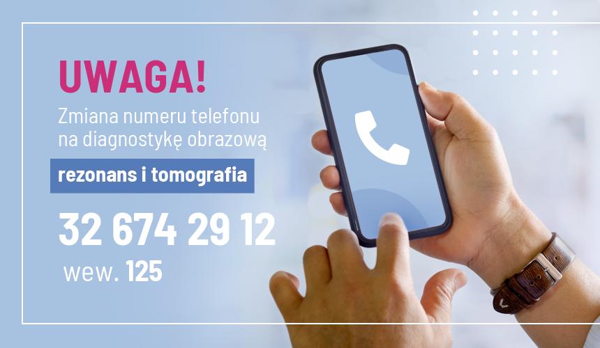Zmiana numeru telefonu nadiagnostykę obrazową