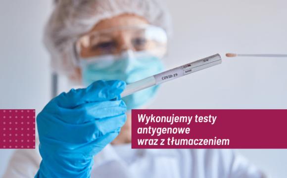 Testy antygenowe wraz ztłumaczeniem